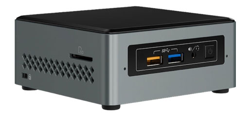 An Arches Canyon NUC with a Celeron processor