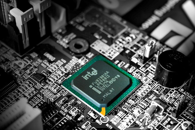 Intel microchip in hard drive